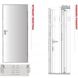 Drzwi RT 01 Technik Ocynk Surowy