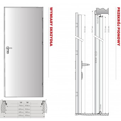 Drzwi RT 01 Technik Ocynk Antracyt