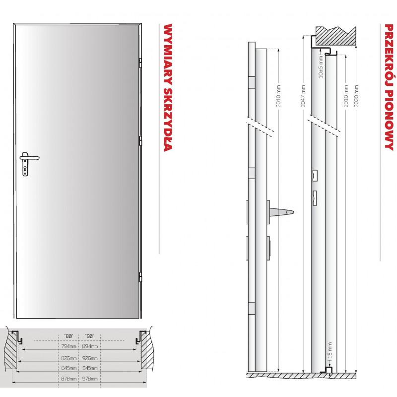Drzwi RT 01 Technik Ocynk Białe