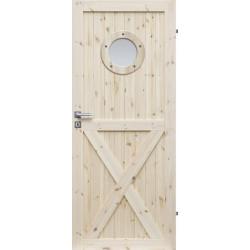 """Drzwi sosnowe, sęczne - """"Loft XO"""" - Seria LOFT - Drzwi wewnętrzne drewniane """"RADEX"""""""