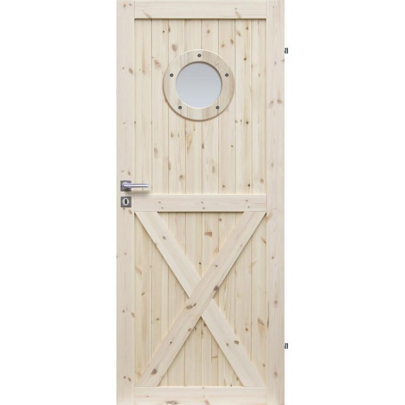 """Drzwi sosnowe, seczne Loft XO Seria LOFT - Drzwi wewnetrzne drewniane """"RADEX"""""""