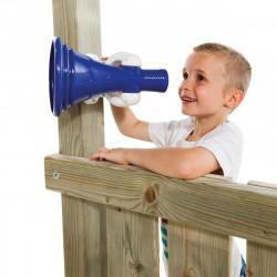 Megafon na place zabaw Niebiesko-Biały Zabawka edukacyjna KBT