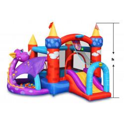 Dmuchany zamek SMOKA trampolina HappyHop dmuchawa
