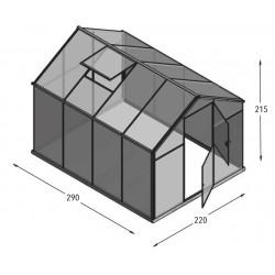 Szklarnia HQ Poliweglan ALU 290x220cm Produkcja UE
