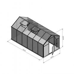 Szklarnia HQ Poliweglan ALU 430x220cm Produkcja UE