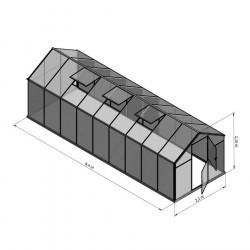 Szklarnia HQ Poliweglan ALU 640x220cm Produkcja UE