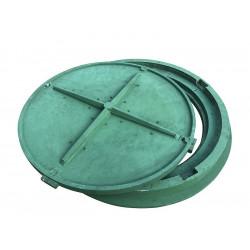 Pokrywa 80 HD szamba z kluczem zielony polimer