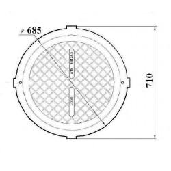 Pokrywa 80 HD szamba z kluczem czarny polimer