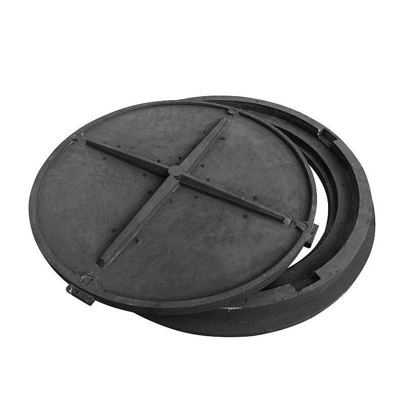 Pokrywa 80 HD szamba czarny polimer