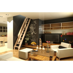Drewniane schody młynarskie proste -