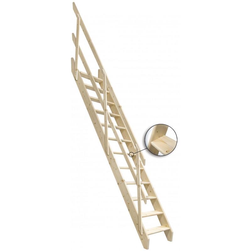 """Drewniane schody mlynarskie proste - """"Kopenhaga 745"""""""