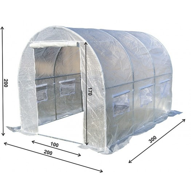 Tunel Szklarniowy PREMIUM 2x3m