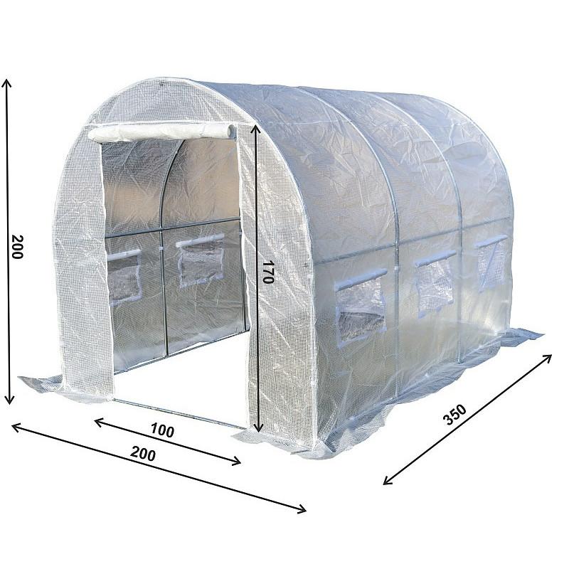 Tunel Szklarniowy PREMIUM 2x3,5m