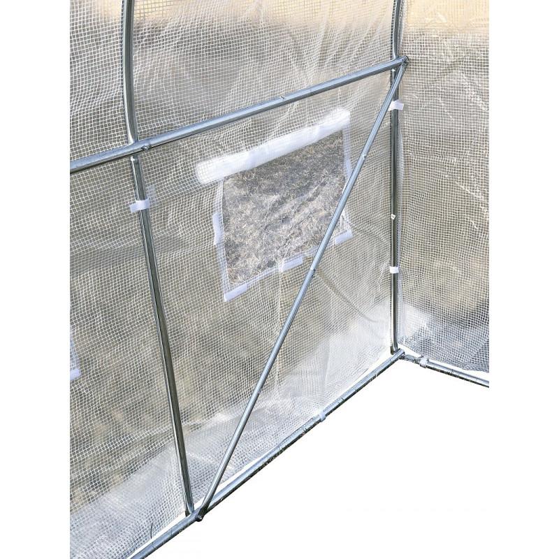 Pokrycie do tunelu szklarniowego 4iQ 2x3,5m Białe