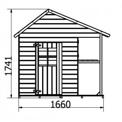 Drewniany domek ogrodowy dla dzieci - ZUZA