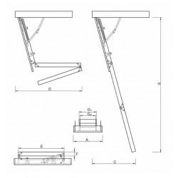 Schody Strychowe NORDIC 87mm 120x70 H=315
