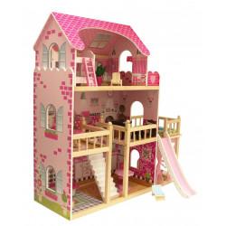 INGA - Drewniany domek dla lalek, z dwoma tarasami