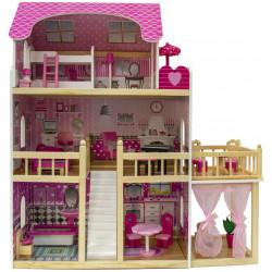 NADIA - Drewniany domek dla lalek z tarasem i altanką
