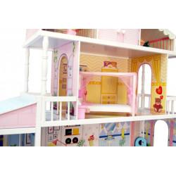 MONIKA - Ogromny drewniany domek dla lalek, z windą!