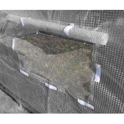 Pokrycie do tunelu szklarniowego 4iQ 2x4,5m szare