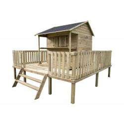 Drewniany Domek Dzieci Ogrodowy ZUZA na Platformie