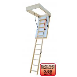 Drewniane schody strychowe EXTREME 120x60