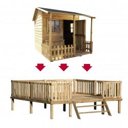 Drewniany Domek Ogrodowy Dla Dzieci Malwinka na Platformie Scenie
