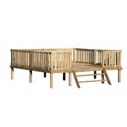 Drewniany Domek Ogrodowy Dla Dzieci Szymon na Platformie Scenie