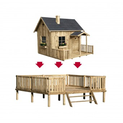 Drewniany Domek Ogrodowy Dla Dzieci Maja na Platformie Scenie