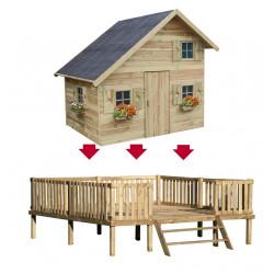Drewniany Domek Ogrodowy Dla Dzieci Amelia na Platformie Scenie