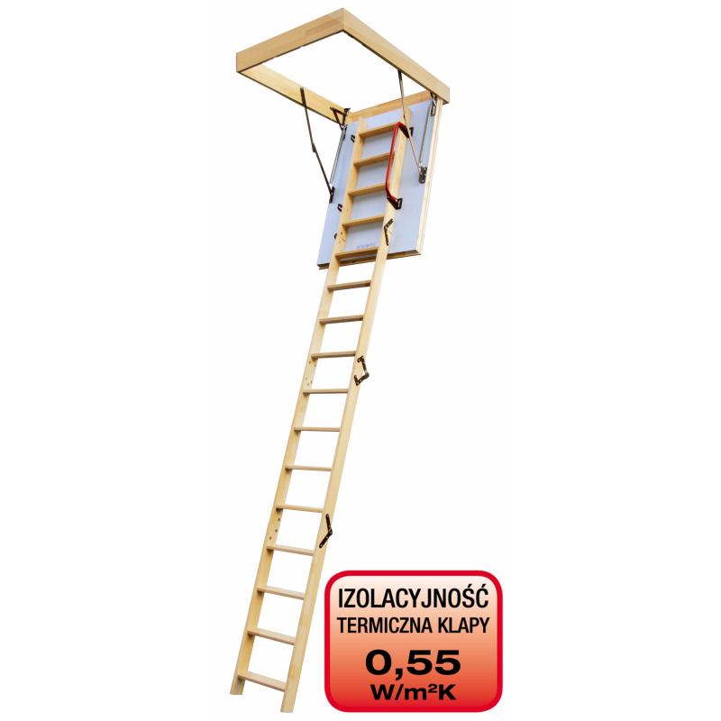 Drewniane schody strychowe EXTREME 100x70