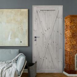 """Drzwi sosnowe, sęczne, nieszklone - """"Loft XI"""" - Seria Classic - Drzwi wewnętrzne drewniane """"RADEX"""""""
