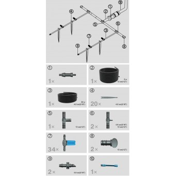 System Nawadniania 34 Punktowy Zestaw Kompletny