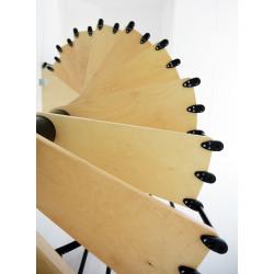 SCHODY MODUŁOWE SPIRALNE PIZA Wysokośc 2,8-3 m Średnica 140cm