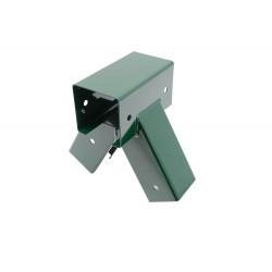 Lacznik Hustawki Kwadratowy Zielony Kat 90° 9x9 cm
